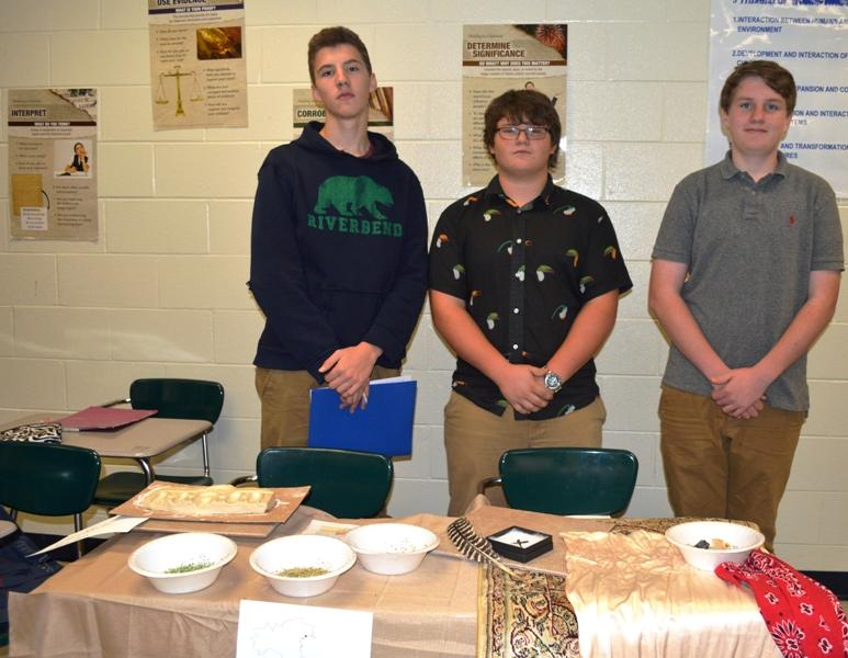From left to right: Hayden Grant, William Conrad, and Ryan Stewart showcased Venice, Italy.