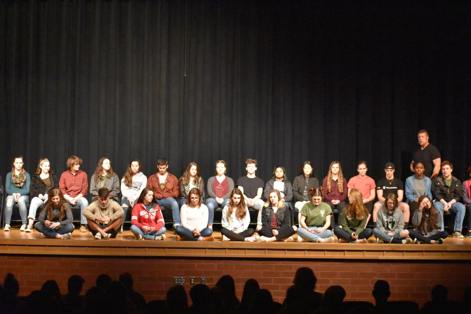 Students participate in Hypnosis show