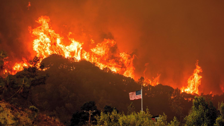 Fires spread, blazing over wildlife in California.