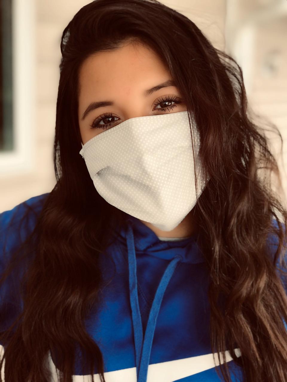 Sophomore Jade Manriquez shows off her favorite mask