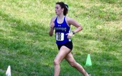 Freshman Anna Labrusciano races at the district cross country meet