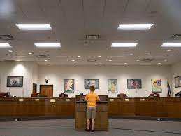 A Spotsylvania county student speaks in front of the school board members during the 2020 school year